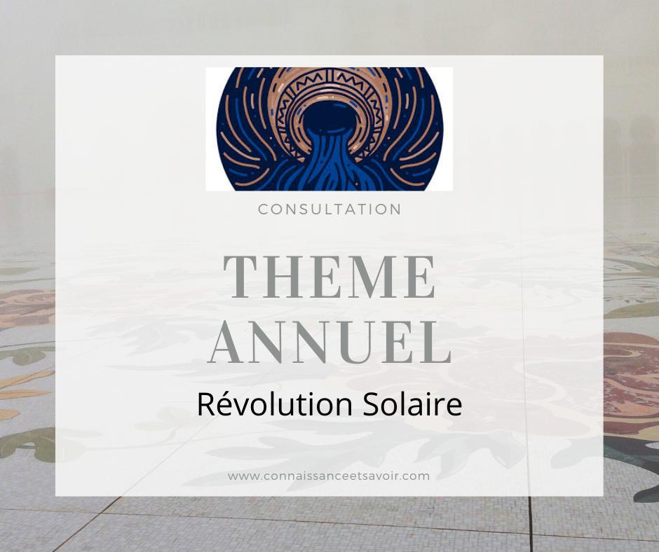Thème astral - Révolution solaire