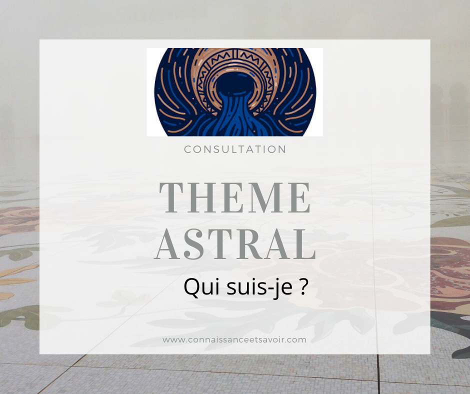 Carte du ciel - Thème astral